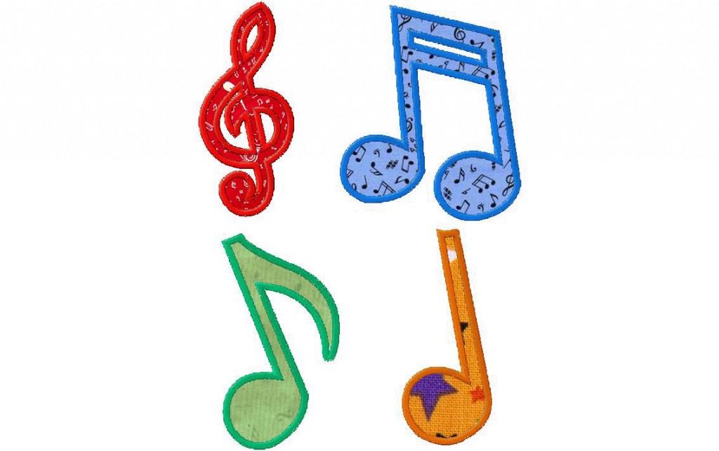 8 Music Note Applique Design Images