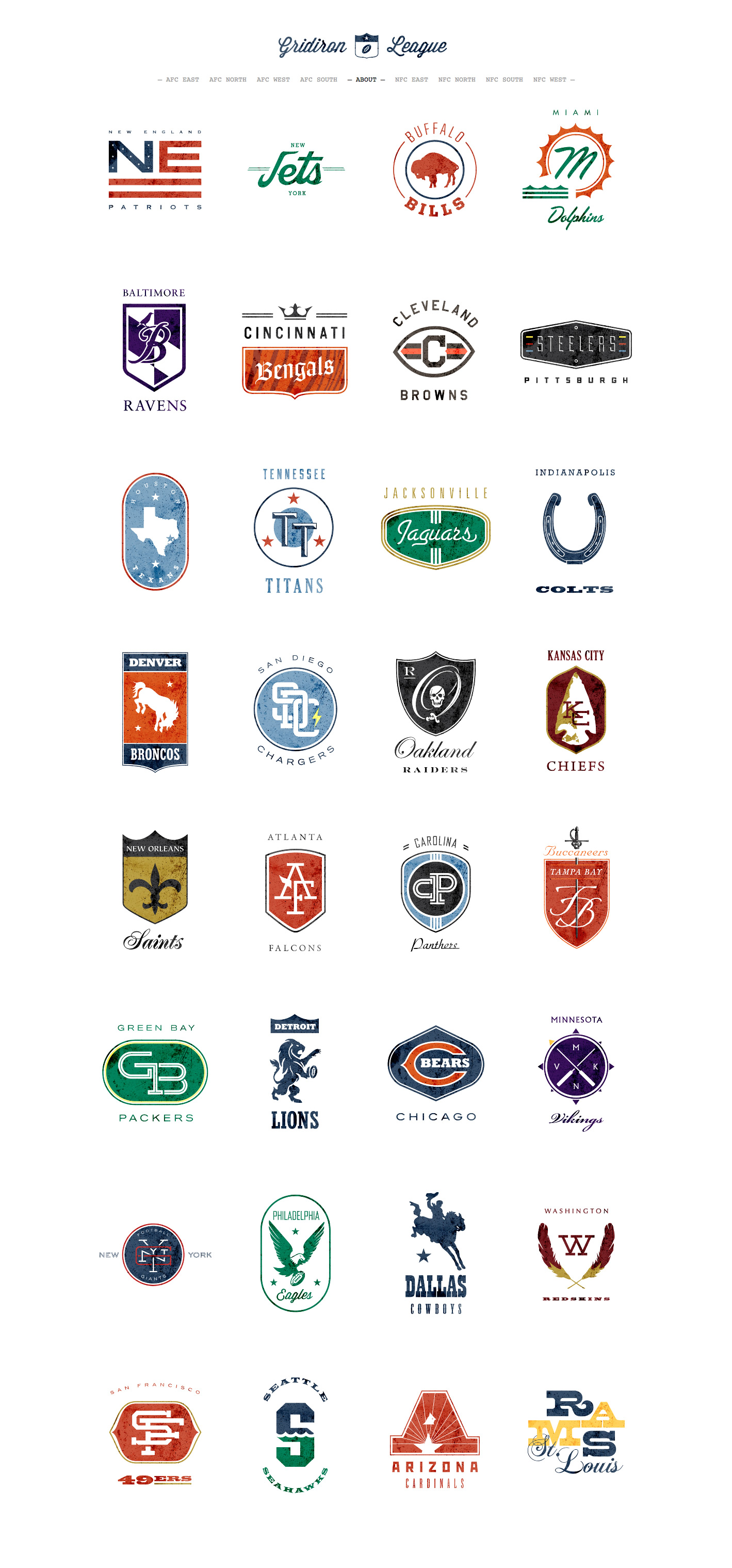 NFL Team Logos and Names