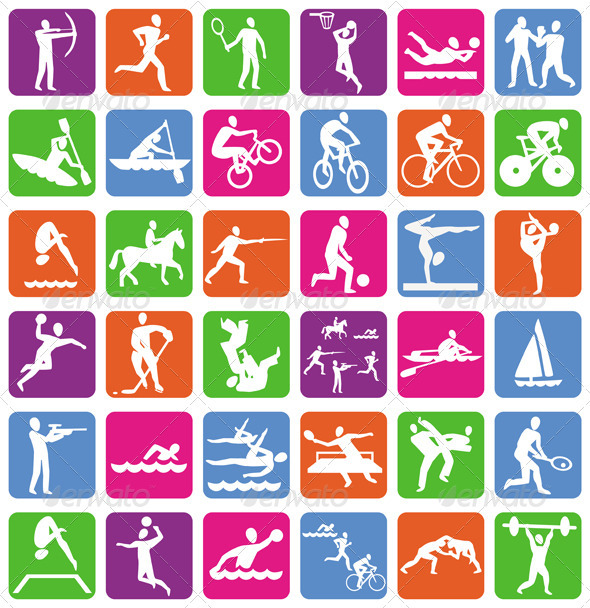 13 Olympic Sports Vector Images