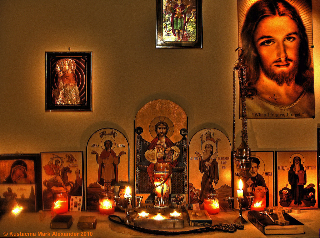 8 Orthodox Icon Prayer Corner Images