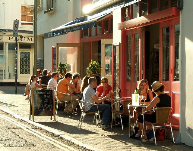 Outdoor Restaurant Dining People