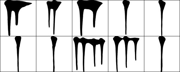 Paint Drip Photoshop Brushes
