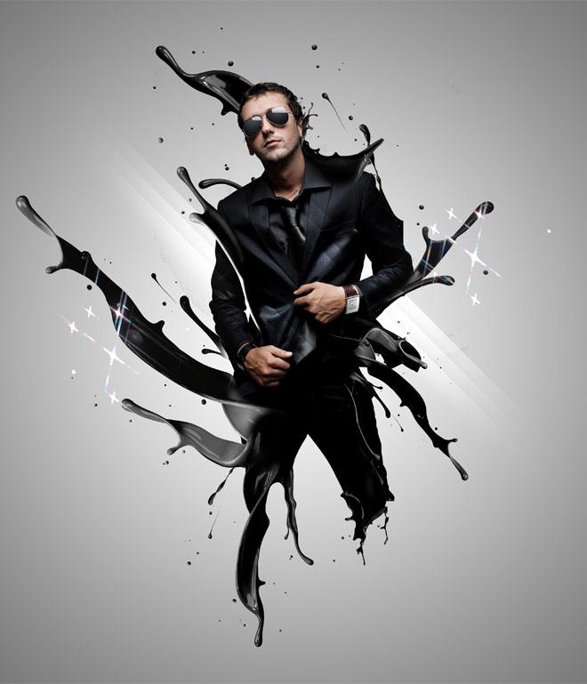 8 Creative Photoshop Effects Images - Paint Effect Photoshop