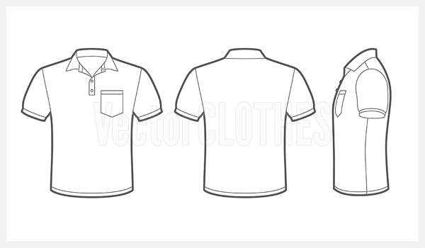 18 vector black pocket shirt images shirt pocket for Polo shirt design template