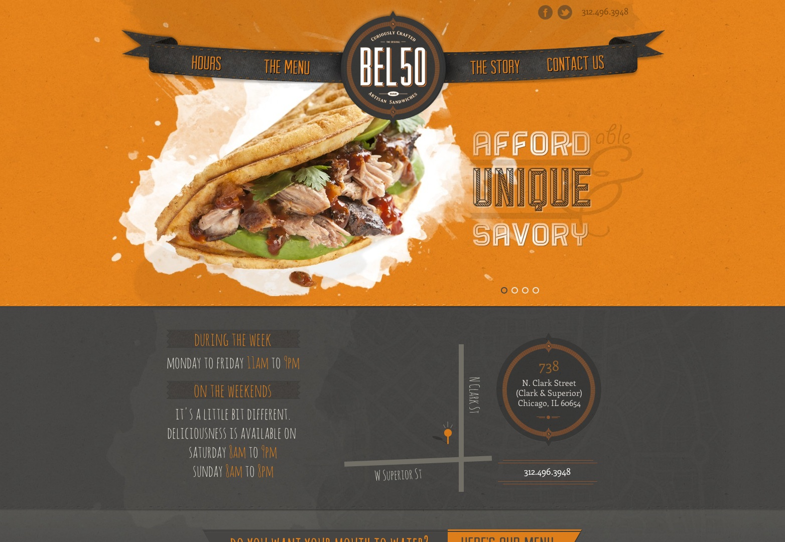 16 Web Design Menu Food Images