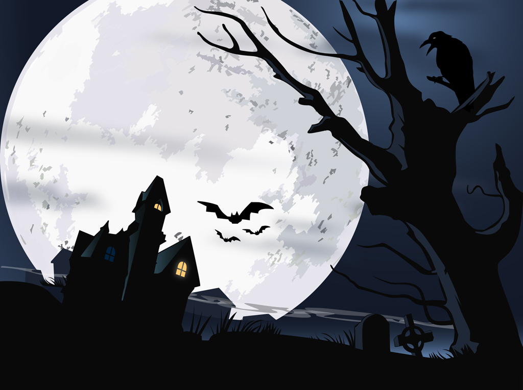 Scary Halloween Vector Free