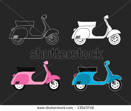 11 Scooter Color Vector Logo Images