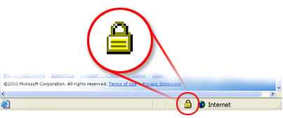 Secure Website Lock Icon