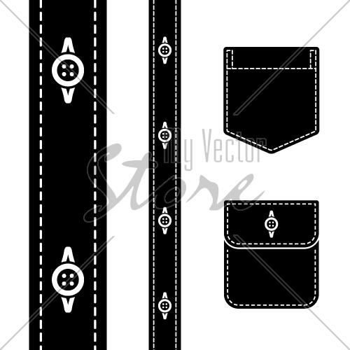 18 Vector Black Pocket Shirt Images