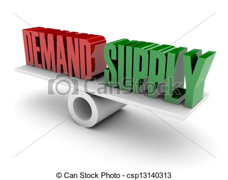 Supply and Demand Clip Art