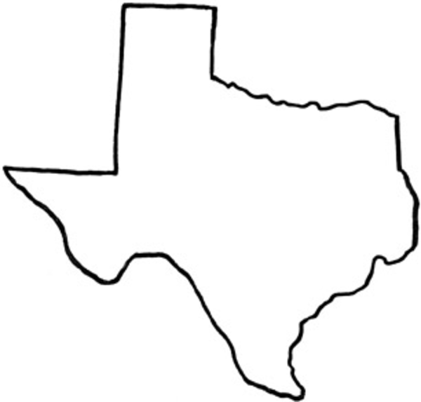 15 Texas Map Vector Images
