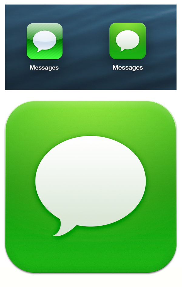 Text Message Icon iPhone iOS 7