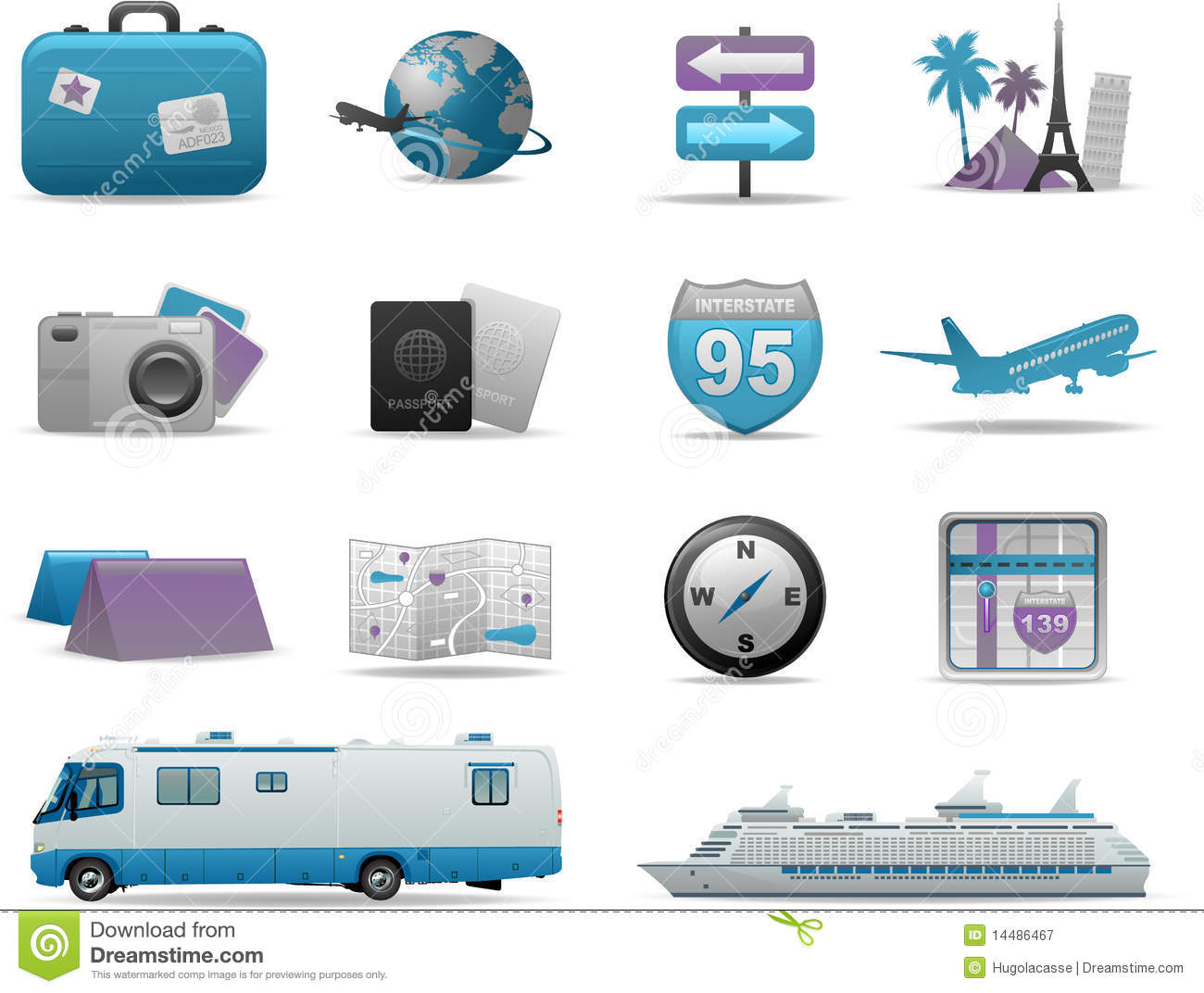 Travel Symbols Icons