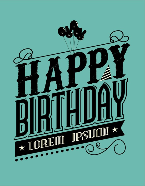 16 happy birthday fonts free images