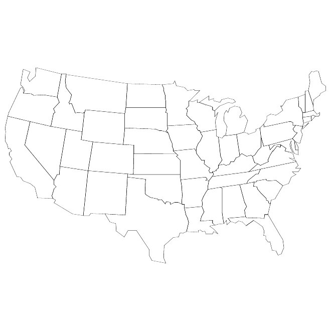 Free US Map Silhouette Vector Free US Map Silhouette Vector