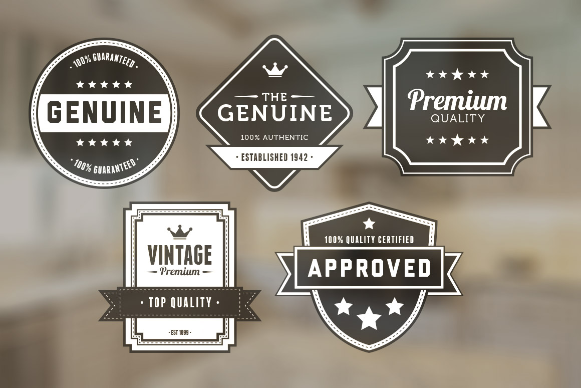 13 Design Retro Badge Vectors Images