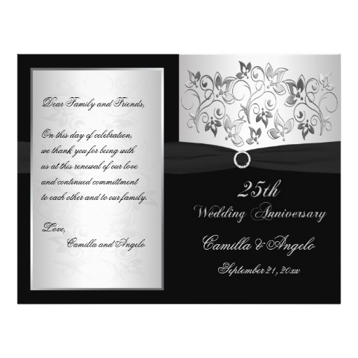 13 25th Wedding Anniversary Program Template Images
