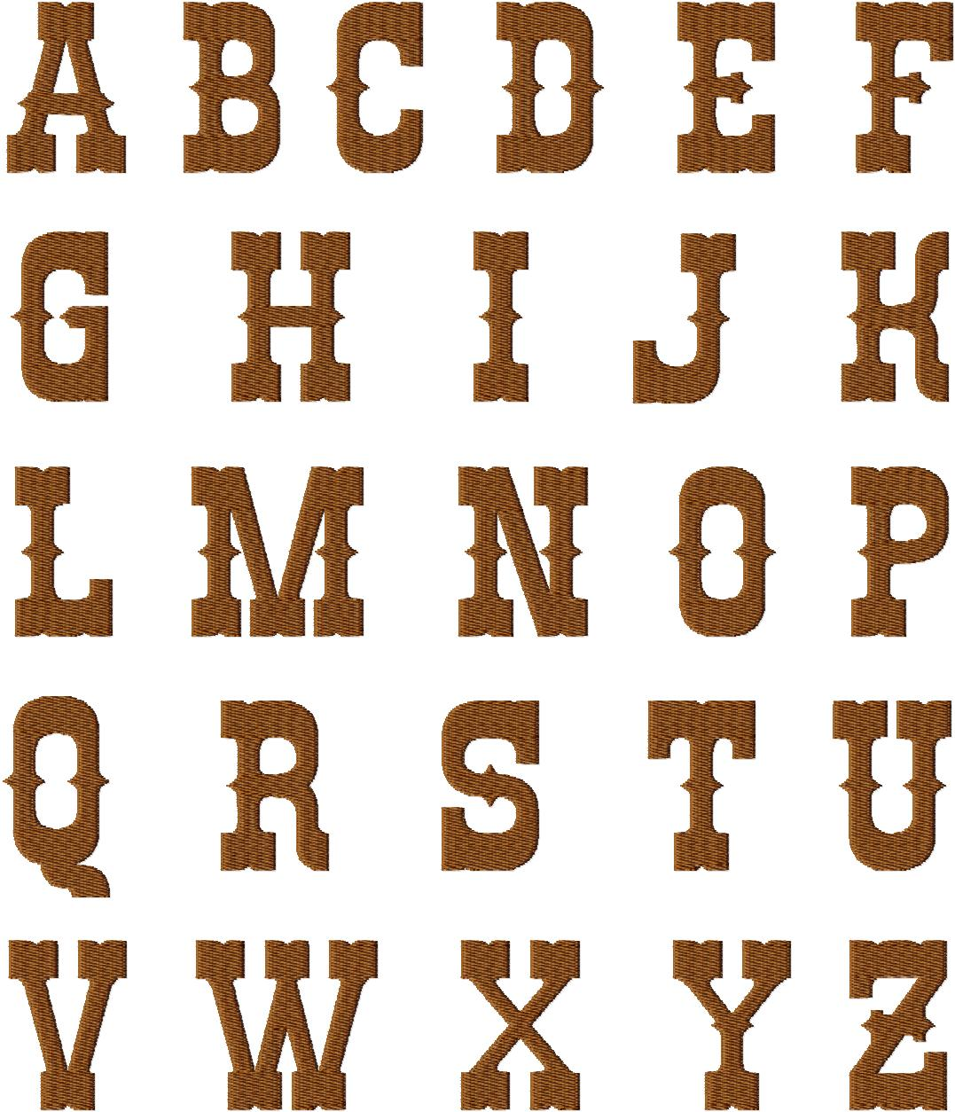 10 Western Style Number Fonts Images