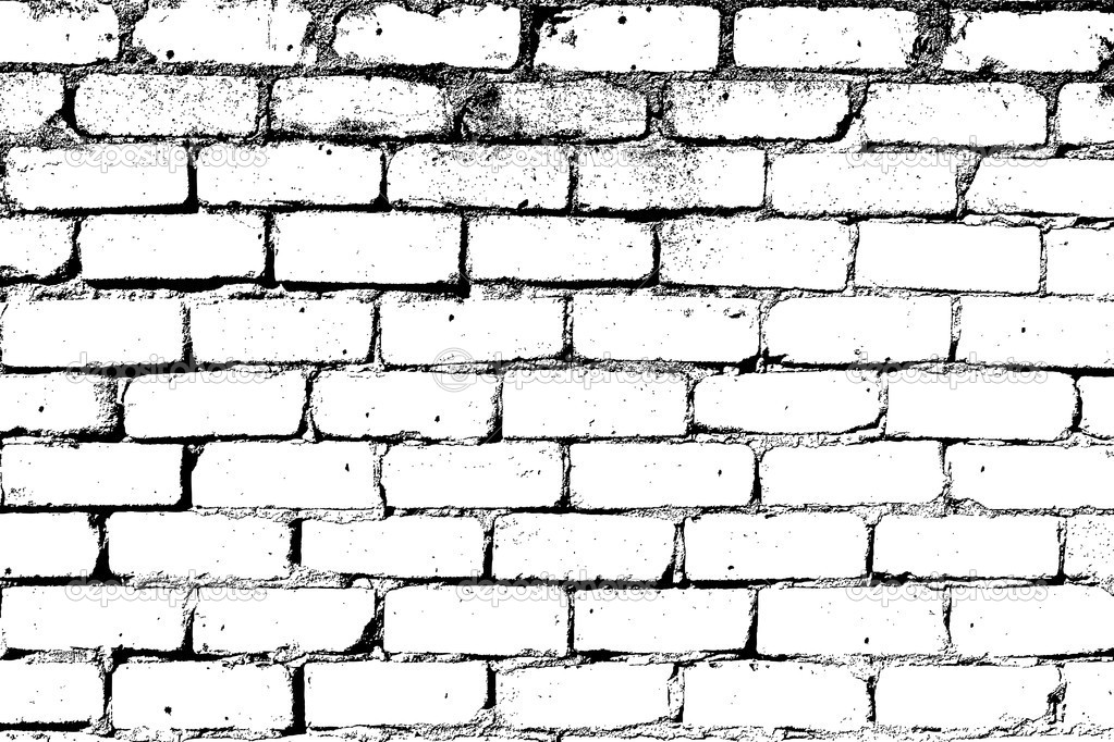 10 White Brick Wall Vector Images Black And White Brick