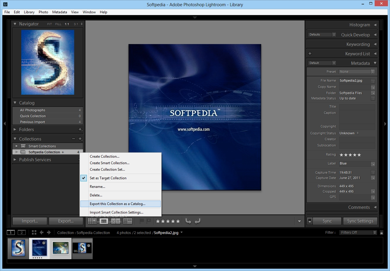 Adobe Photoshop Lightroom Screen Shot