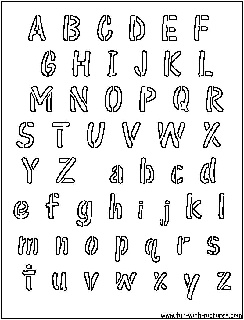 Alphabet Letter Stencils Font