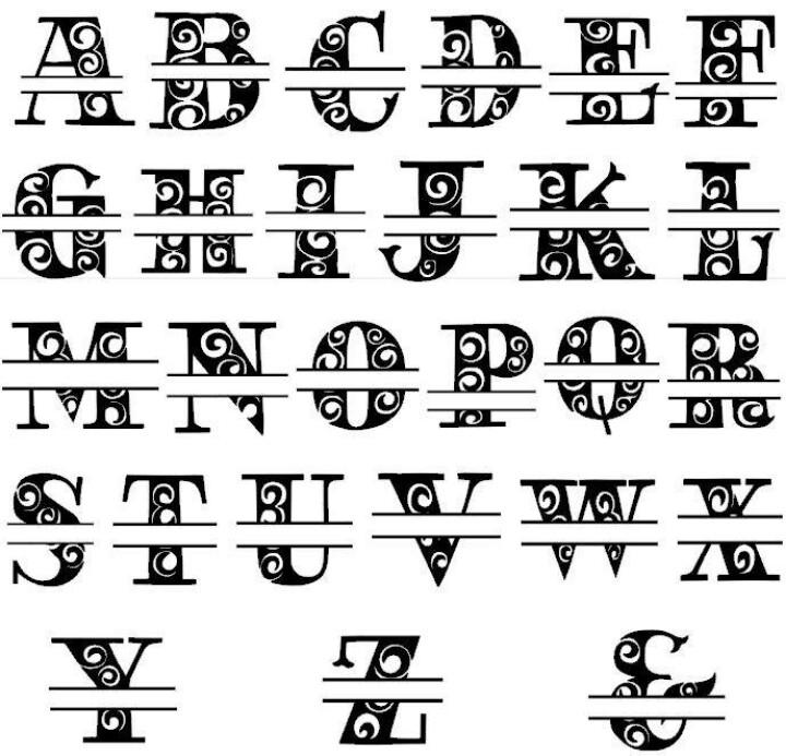 Alphabet Split Letter