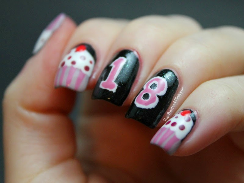 13 Birthday Nail Art Designs Images