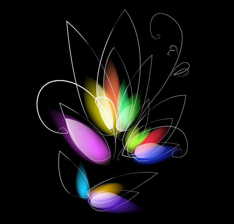 13 Dark Colorful Floral Designs Images