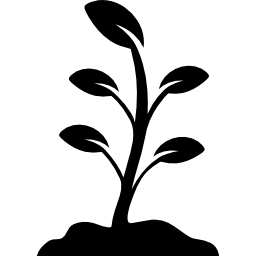 Black and White Plant Free Icon