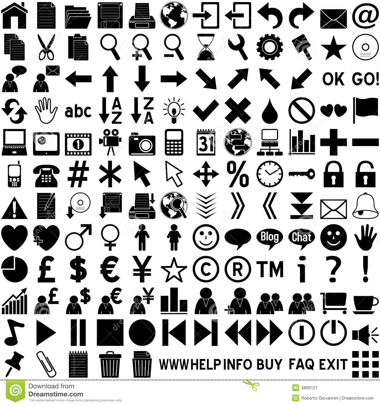 15 Web Icons Black And White Images