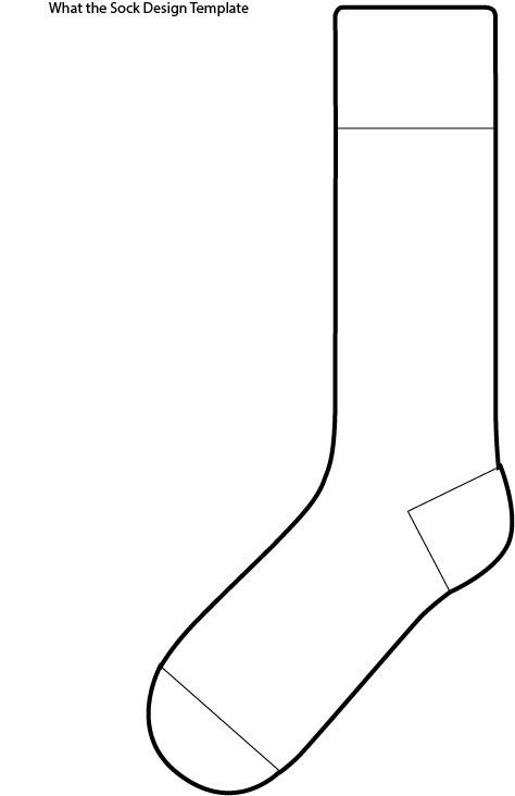 14 socks outline template images socks clip art free fox in socks