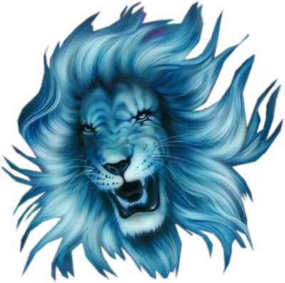 Blue Lion Head Logo