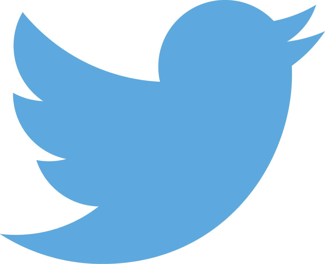 Blue Transparent Twitter Logo