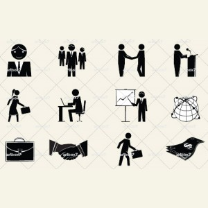 Business People Icon Clip Art