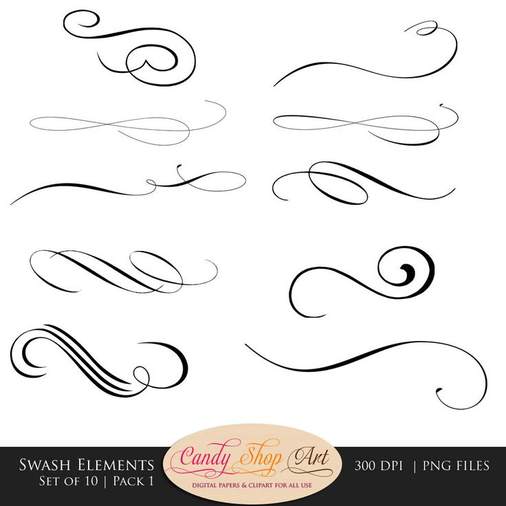 14 Swirls And Swashes Font Images