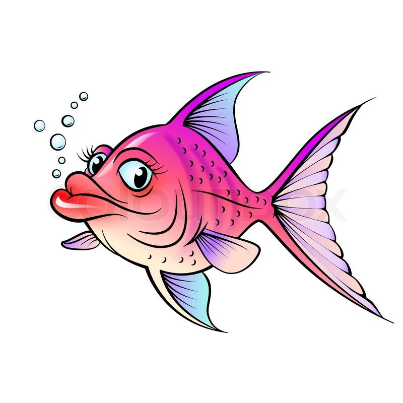 Cartoon Fish with Lips