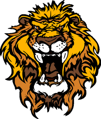 Cartoon Lion Roaring Head