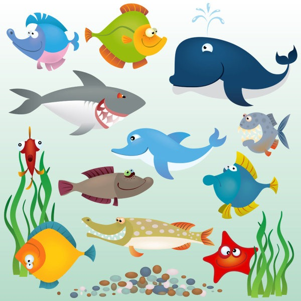 Cartoon Marine Fish