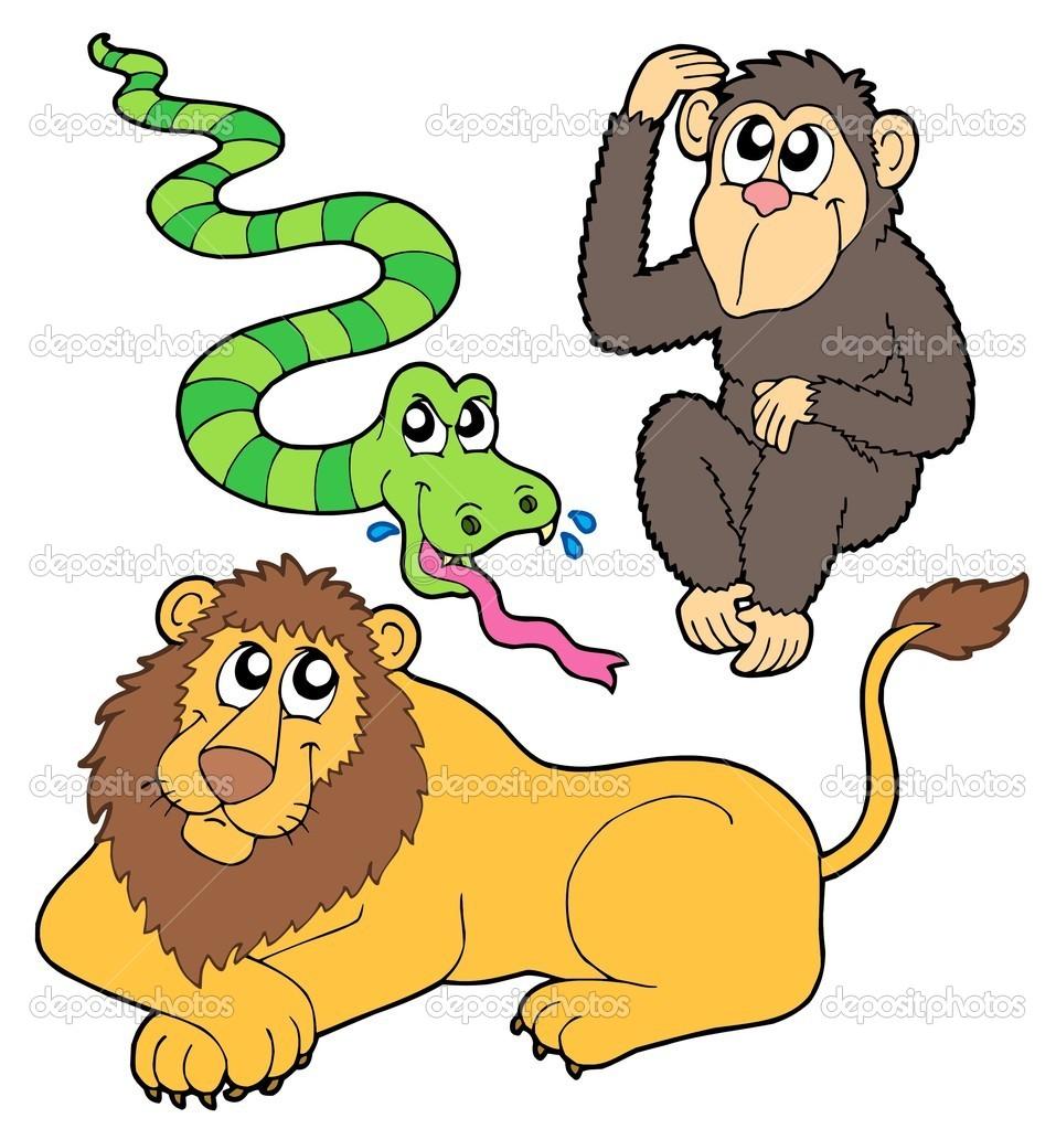 Cartoon Zoo Animal Clip Art