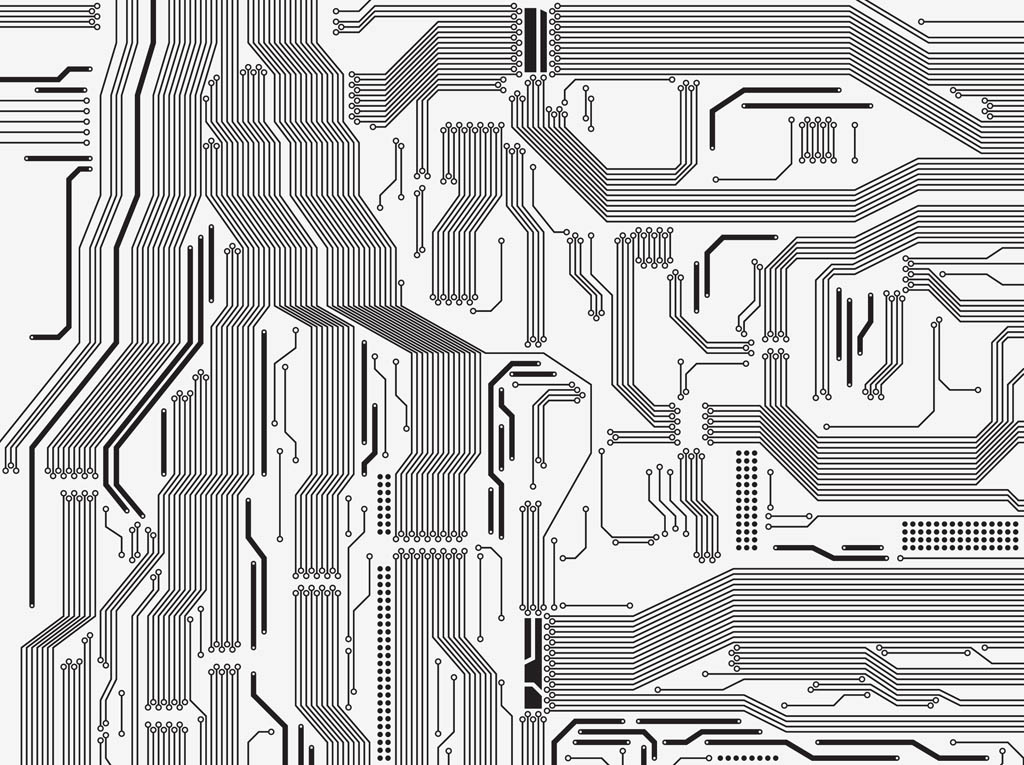 5 Circuit Board Vector Shapes Images