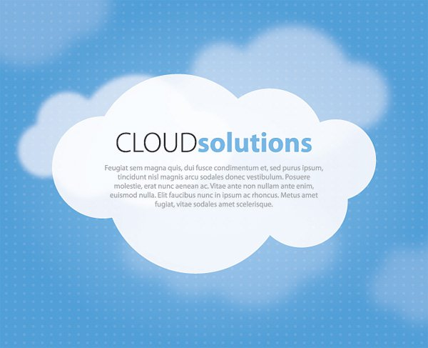 17 Cloud Vector Web Graphics Images