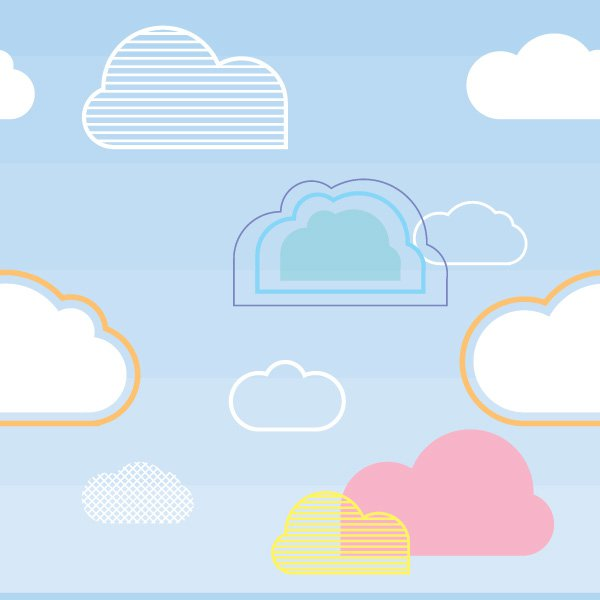 17 Cloud Vector Web Graphics Images - Cloud Vector Graphic