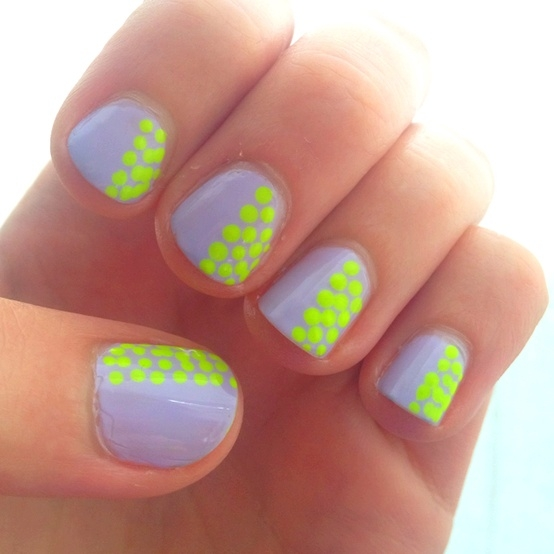 11 New Neon Nail Designs 2014 Images