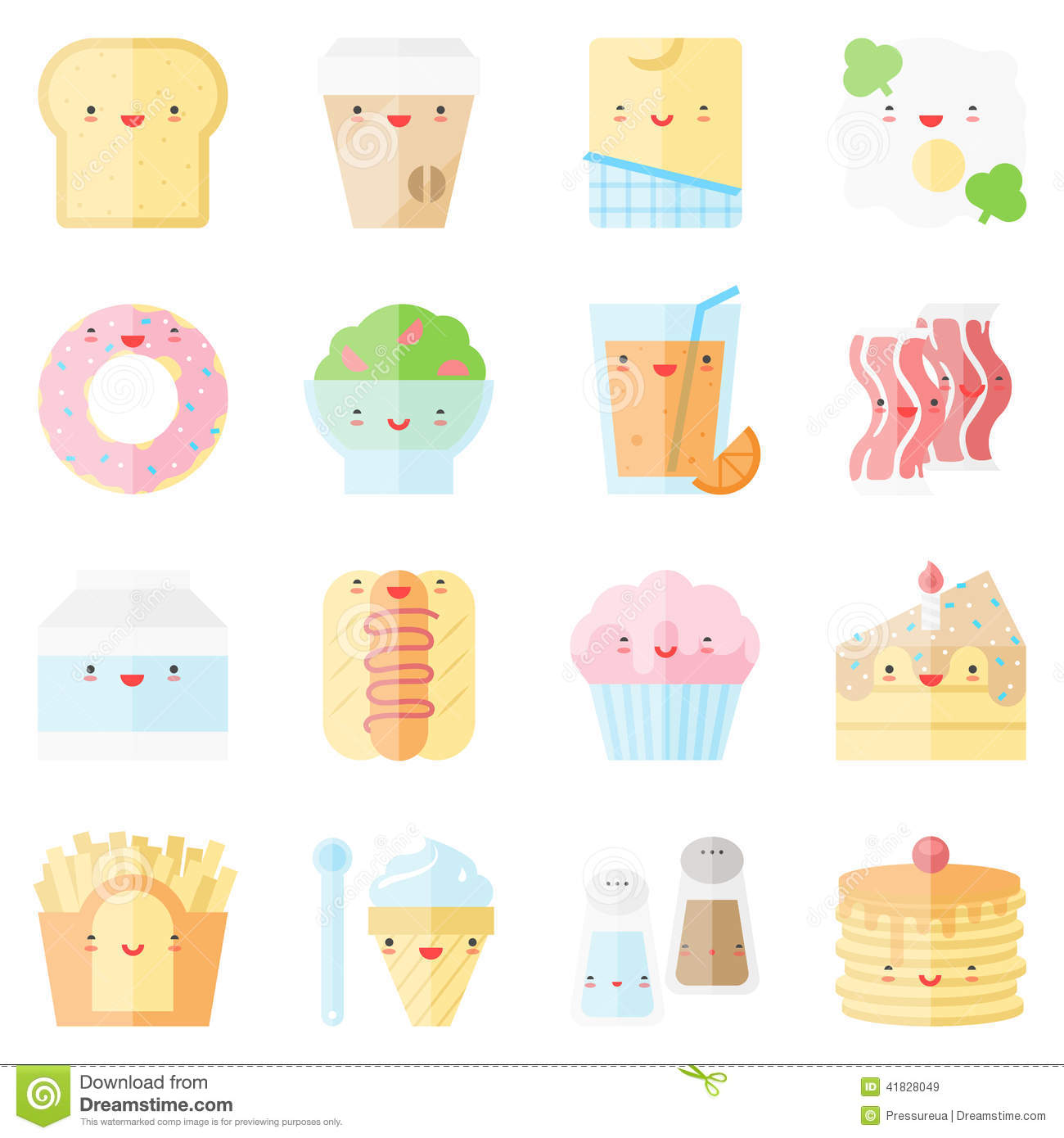 Cute Kawaii Food Icon