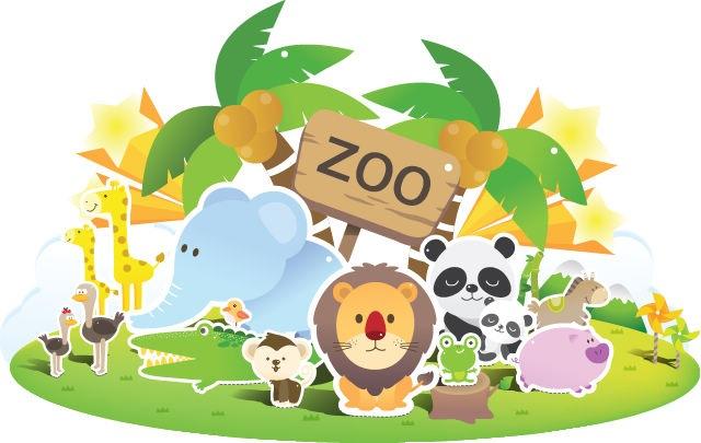 Cute Zoo Clip Art