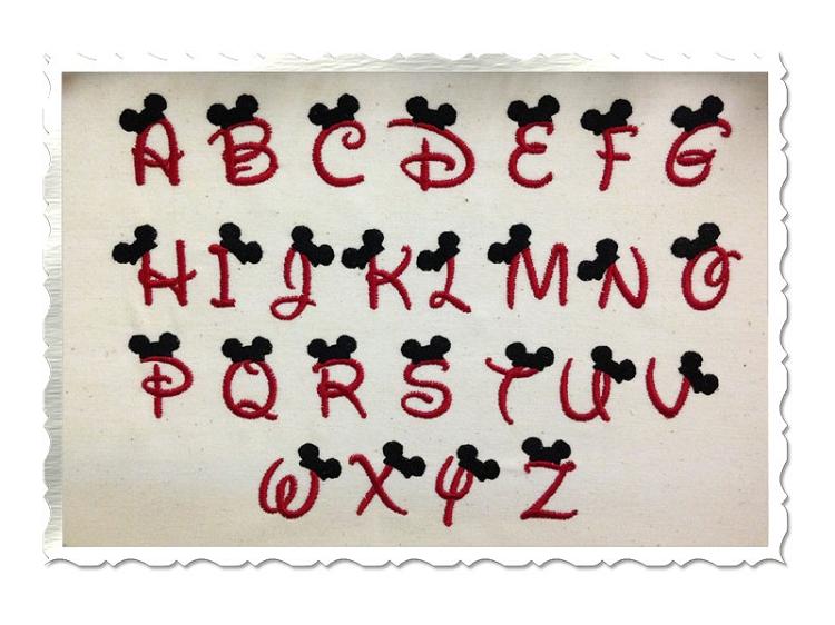 Disney Letters Font