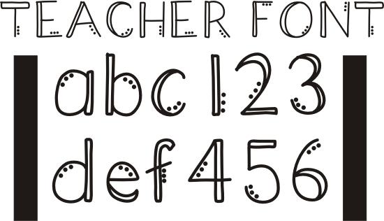 Easy Cool Letter Fonts