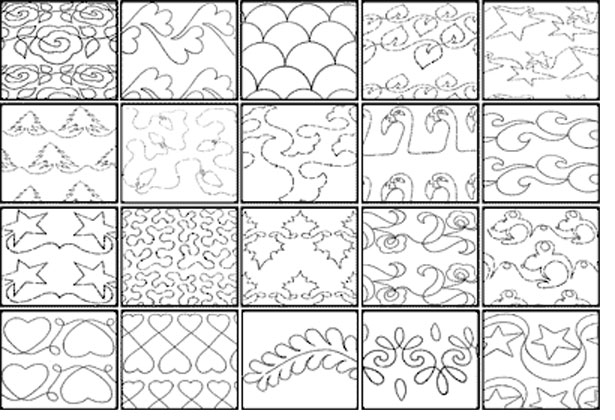 Quilting Line Templates : 13 Free Continuous Machine Quilting Designs Images - Continuous Line Quilting Patterns, Free ...