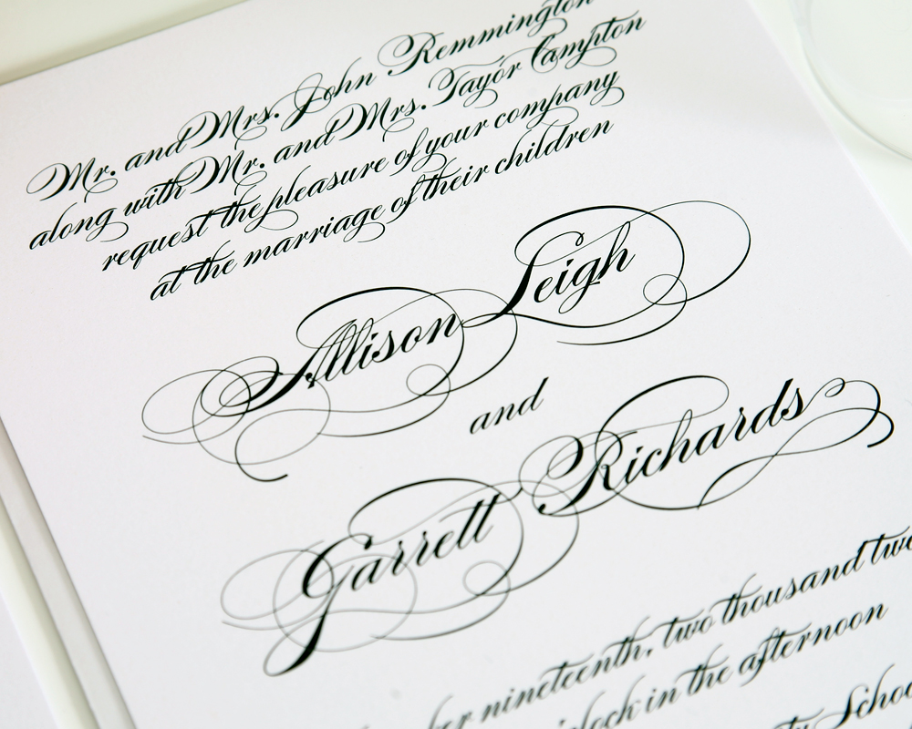 9 Elegant Fonts For Wedding Invitations Images