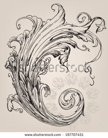 Fancy Vector Flourish Scroll Pic